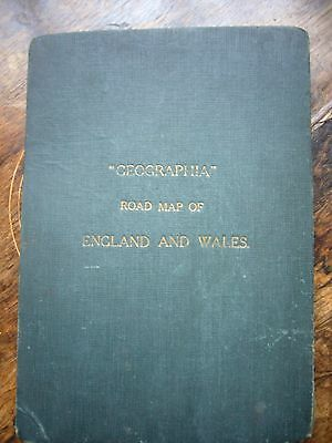 """Vintage """"Geographia"""" Road map of England and Wales"""