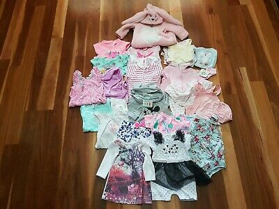 Baby Girl Clothes Size 00 - 3 - 6 Months Mixed Lot x 30 Pieces