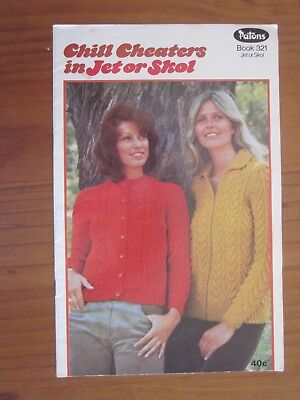 Vintage Patons Knitting Book 321 Chill Cheaters in Jet or Skol Patterns