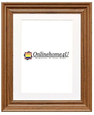 Dark Oak Swept Traditional Ornate Picture Photo Frames With Three Colors Mounts