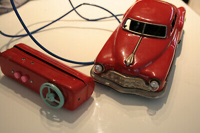 1965 tin toy CHEVY remote conrol car WORKS ~ Made in Japan