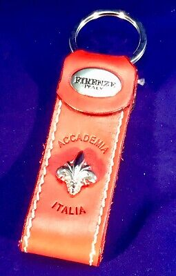 """New Firenze Italy Key Chain """" Accademia """" Museum Florence  , Fluer De Lis"""