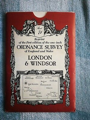 Reprint of the first edition of the one inch ORDNANCE SURVEY of England & Wales