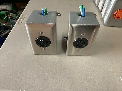 Lot of 2 Hubbell 20-Amp 125 Volt Black Twist Lock Receptacle with enclosure