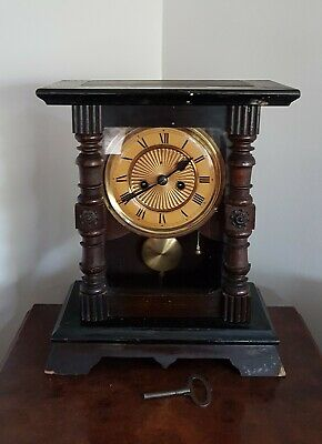 An old striking German mantle clock with repeat function - Serviced working fine