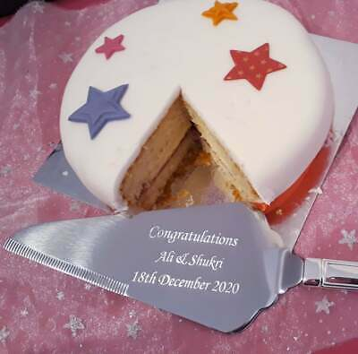 Personalised Engraved Stainless Steel Cake Knife Slice / Server - Wedding Gift