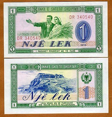 Albania  1 Leke 1976  P-40a  UNC BANKNOTE PAPER MONEY SOCIALISM CURRENCY