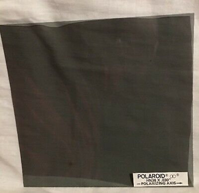 "Polaroid HN38 6""x6"" Square Sheet Polarizing Filter .030"" Thick *Vintage"