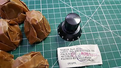 Vintage Bush Radio Knob AUG 1956  10AK 162  6mm shaft 8pcs