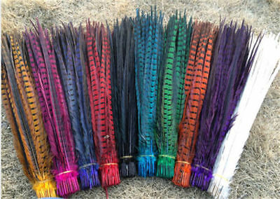 Wholesale! 10-100 Pcs 30-45cm/12-18 inch natural pheasant tail feathers