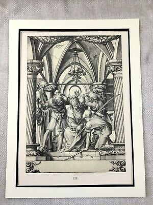 Antique Print Rare Hans Holbein Passion of Christ Jesus Crucifixion Painting