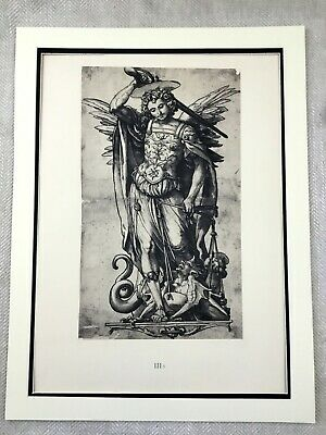 Antique Print Rare Limited Edition St Michael Angel Hans Holbein the Younger