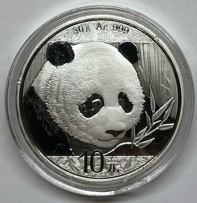 2018 10 Yuan China Silver Proof Panda In Capsule
