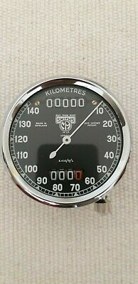 Smiths S.433/5/L speedometer faces early postwar  Kilometres.