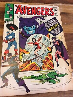 Marvel Silver Age The Avengers Comic # 26 , 1966 - Good!