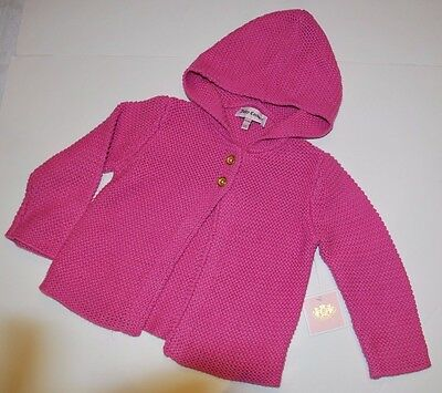 BNWT Beautiful Designer JUICY COUTURE Girls Hooded Knit Sweater 12-18 Months
