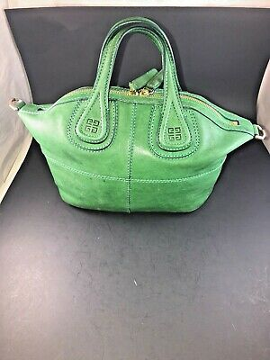 57aff1ee0c93d Givenchy Nightingale Satchel Bag Calfskin Leather Green 6335 MA0143 6335