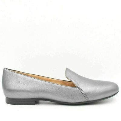b8313108d615 NATURALIZER Emiline Women Slip-On Loafers Size 10M Pewter Sparkle Leather