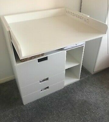 White Ikea STUVA Desk Baby Changing Table Used