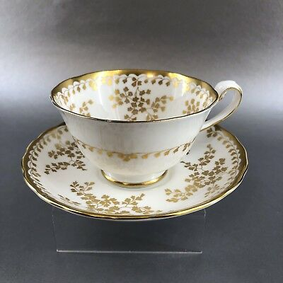 Vintage Royal Chelsea Golden Vine Bone China Tea Cup and Saucer England Teacup