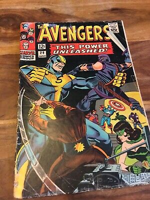 The Avengers Silver Age Comic # 29, Marvel, 1966!