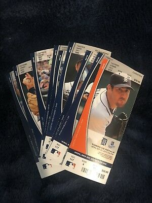 2010 Detroit Tigers Ticket Stub Pick Your Date (New and Unused)