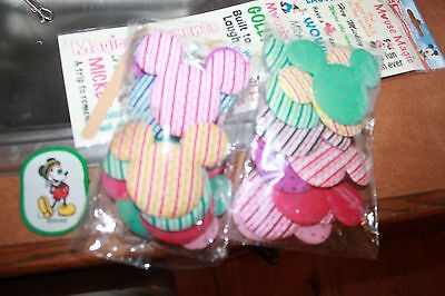 19 Mickey Mouse head/ears pastel Scrapbooking craft pcs & rub ons & patch