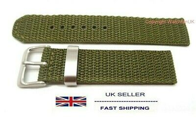 Fabric Army Type Woven Green Watch Strap Fits Timex Expedition 20MM