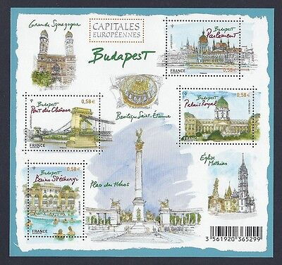 FRANCE 2011 Bloc Feuillet n° F 4538 Capitales Européenne BUDAPEST  NEUF**LUXE