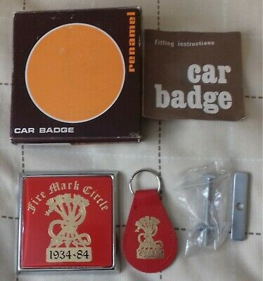 Fire mark  car badge