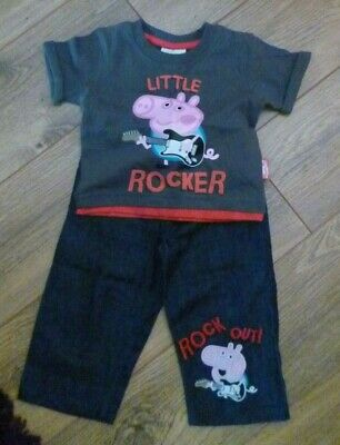 Baby Boy Outfit 2 Piece Peppa/George Pig 6 -9 months
