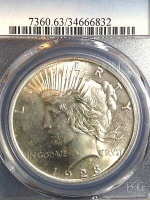 1923-P Peace Silver Dollar PCGS MS 63 UNC BU Brilliant Uncirculated Super Coin