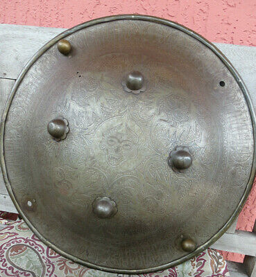 Antique Indo Persian Islamic Shield Separ 18th century