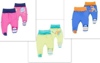 Baby Boys/Girls **Trousers with feet Leggings 100%Cotton NB/3 up to 6 Months