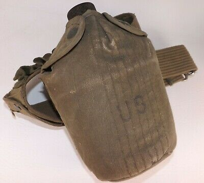 WWII Era Army Issue Canteen With Cover WW2 1945 World War Two