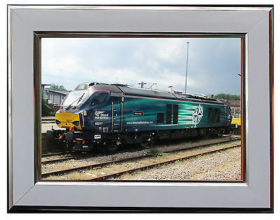 "Class 68017 Locomotive  7"" X 5"" Framed Photograph (Wsf06P)"