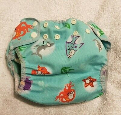 Motherease Wizard Duo Nappy Sealife Wrap Cover & Insert - All in Two