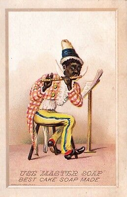 "Master Soap & Co.* "" Black Americana.* Antique Vintage Trade Card."