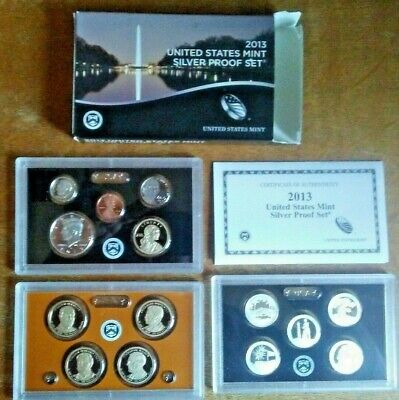 2013 US MINT SILVER PROOF SET Complete w/ Box and COA