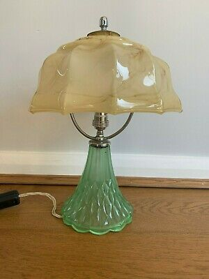 Art Deco Davidson Glass The Good Companion Table Lamp1935 with Replacement Shade