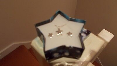 Silver Plated Star Necklace & Earrings