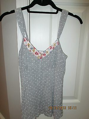 Lemon TART INTIMATES Gray & White Polka Dot Sleep Cami SZ S NWOT