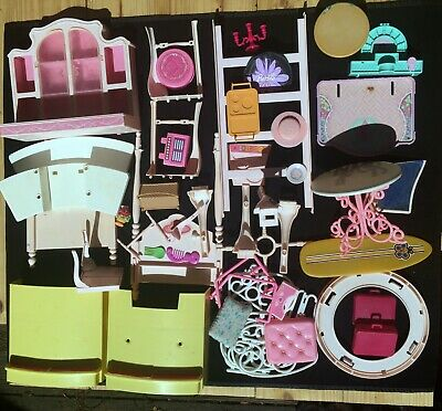 Vintage 1980's Lot of Barbie Furniture Parts and Accessories