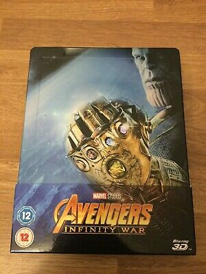 Marvel Studios Avengers Infinity War 3D Blu Ray Limited Edition Steelbook Region
