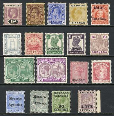 Commonwealth Small Mixed Mint Lot. Mixed Countries Pre QEII. Cat £100+