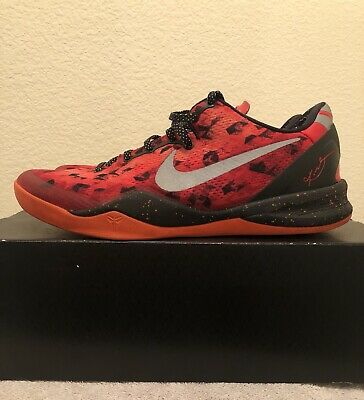7d31c467c7701 NIKE KOBE VIII 8 System Christmas Black Fiberglass Yellow Orange ...