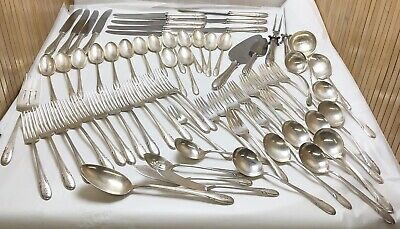 Towle Silversmiths Sterling Silver Monogrammed D Symphony Flatware Set Pat 1931