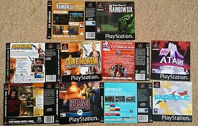 5x PS1 Game Covers: Box Art: PlayStation One