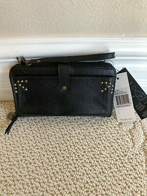 c6d0a6178827 THE SAK HOLDEN Leather Large Smartphone Crossbody Graphite Stud Nwt ...