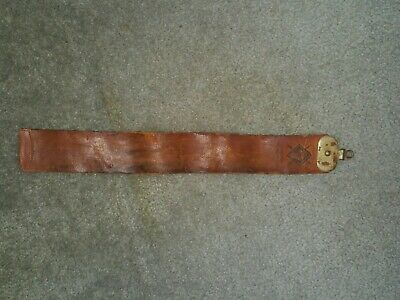 Vintage Barber Shop Horse Hide Leather Razor Strop Swivel